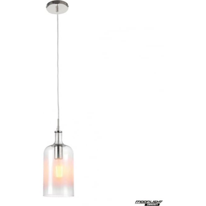 Endon Lighting Frankie single light pendant - Clear