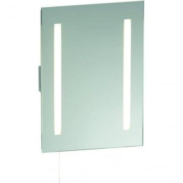Glimpse Shave Mirror - Mirrored Glass & Matt Silver Finish