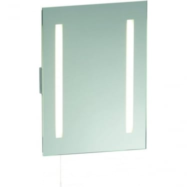 Glimpse Shaver Mirror with Shaver socket and Pull Cord