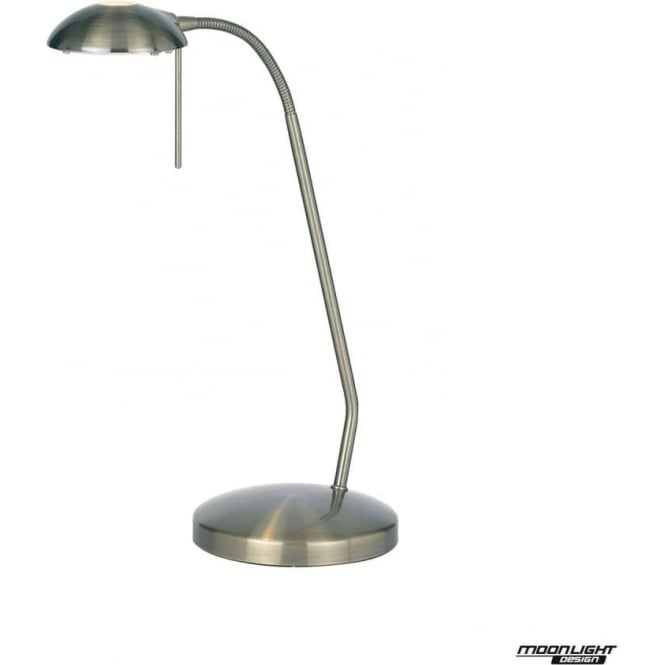 Endon Lighting Hackney touch task table lamp - Antique Brass