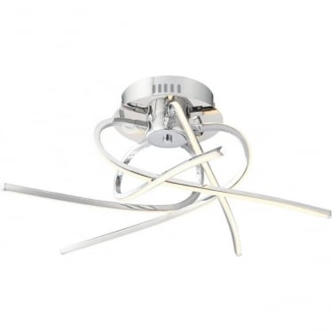 Hemingway 5 light semi flush fitting - Chrome plate