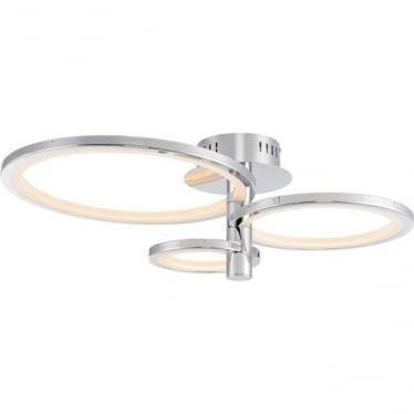 Hemsworth 3 ring semi flush fitting - Chrome plate