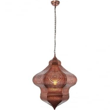 Heran Single Pendant - Aged Copper