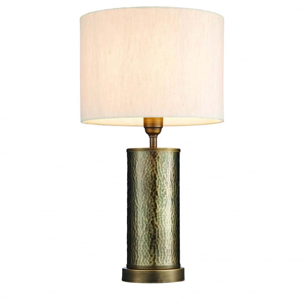 Endon lighting endon lighting indara table lamp aged hammered indara table lamp aged hammered bronze effect plate amp natural linen mozeypictures Image collections