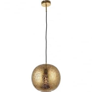 Javarone 1 Light Pendant - Brass