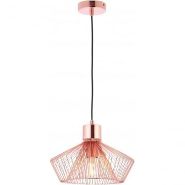 Kimberley single light pendant - Copper plate