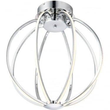 Kinsella 8 light semi flush fitting - Chrome plate