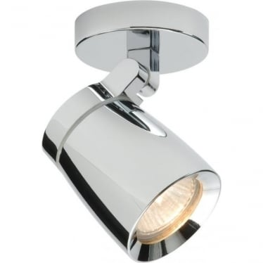 Knight 1 Light Plate IP44 35W - Chrome Plate & Clear Glass