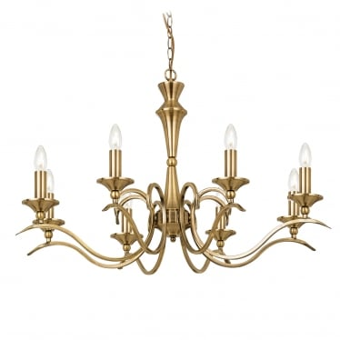 Kora 8 light pendant - Antique brass