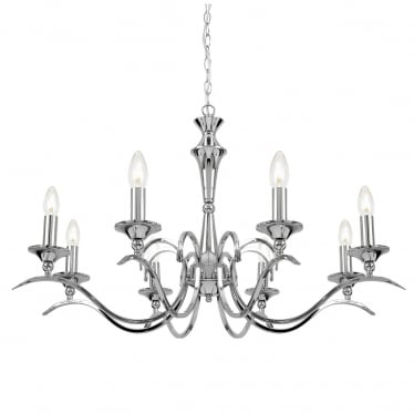 Kora 8 light pendant - Chrome plate