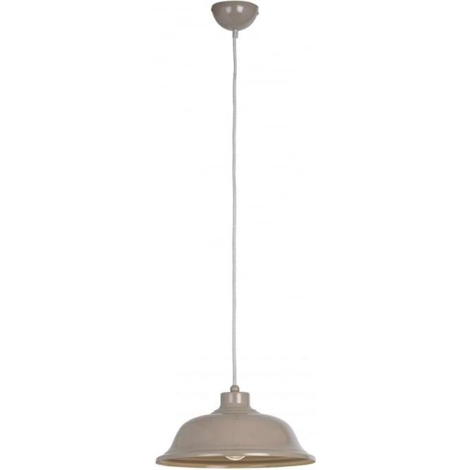 Endon Lighting Laughton Single light Pendant - Slate Grey Finish