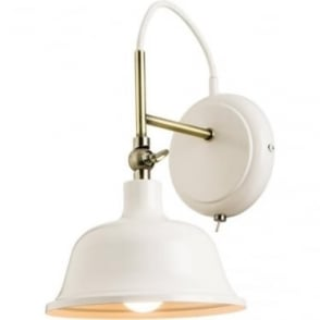Laughton Single wall light - Cream Finish