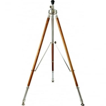 Liberton floor lamp - Teak wood & polished aluminium - Base only