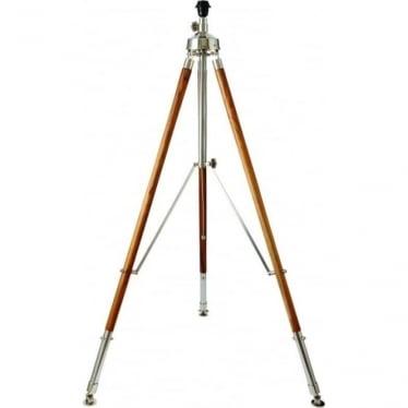 Liberton floor lamp - Teak wood & polished aluminium - Base only