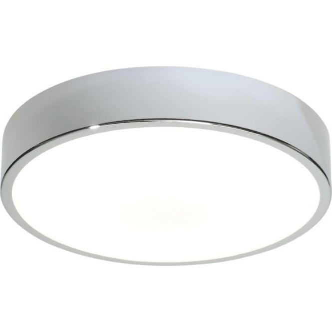 Endon Lighting Lipco 300MM Flush Fitting HF IP44 - Chrome Plate & Matt White Acrylic