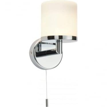 Lipco single wall light IP44 - Chrome Plate & Matt Opal Duplex Glass