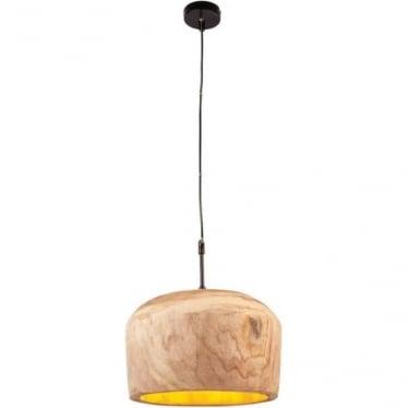 Lucy 1 Light Pendant - Wood 330mm