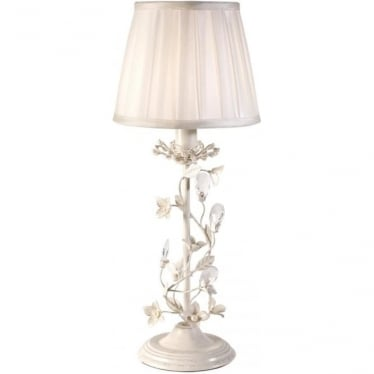 Lullaby table lamp - Cream brushed gold & cream cotton mix