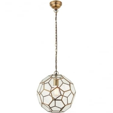 Miele single pendant - Antique brass