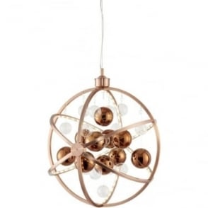 Muni 480mm Pendant - Copper with Clear & Copper Glass - Large