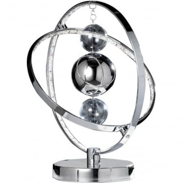 Muni Table Lamp - Chrome Plate & Clear/Chrome Glass