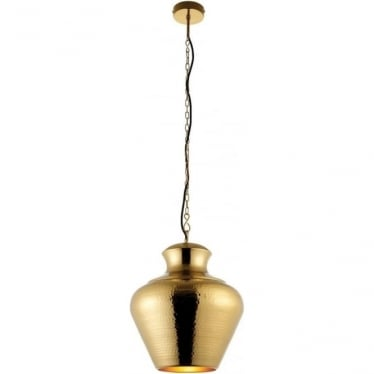 Myddleton 1 light pendant - Matt Aged Brass