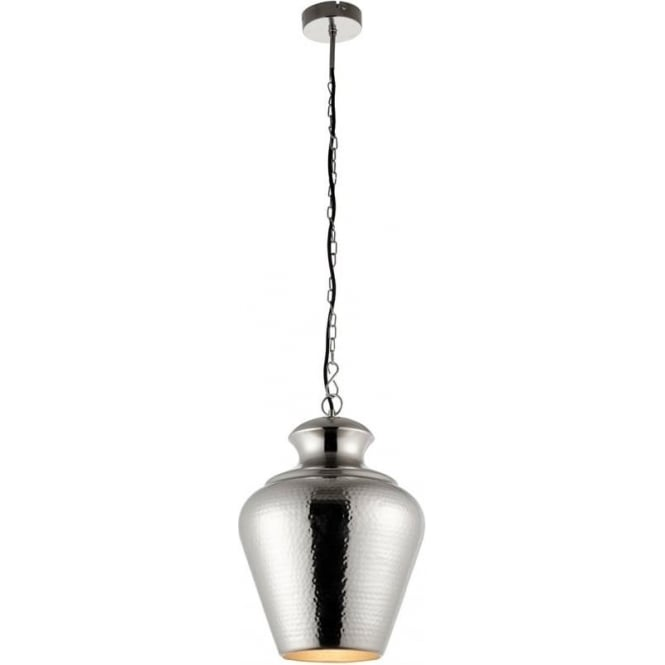 Endon Lighting Myddleton Single pendant - Matt Aged Nickel Finish
