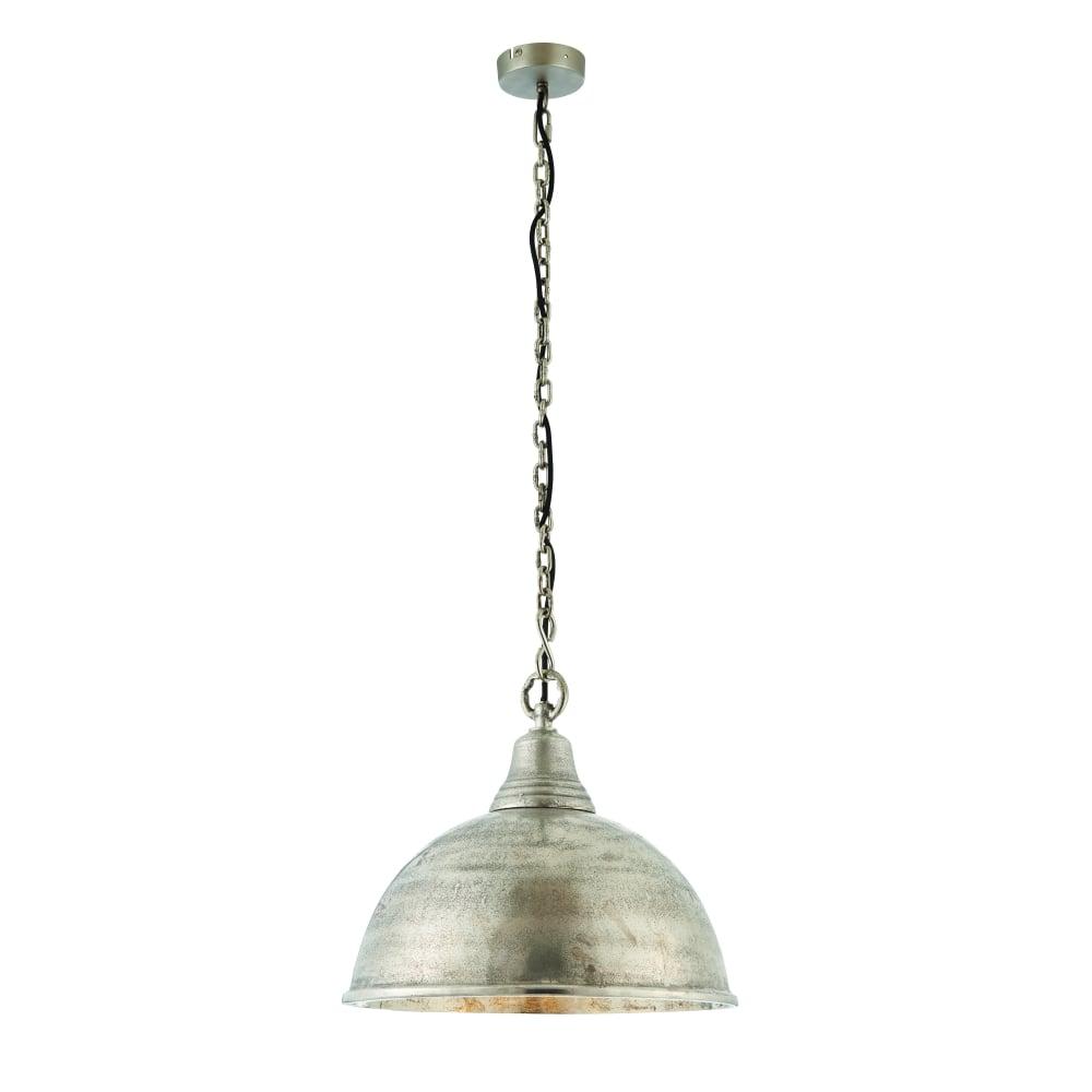 Nesta single light pendant - Antique silver effect plate  sc 1 st  Moonlight Design & Endon Lighting Endon Lighting Nesta single light pendant - Antique ...