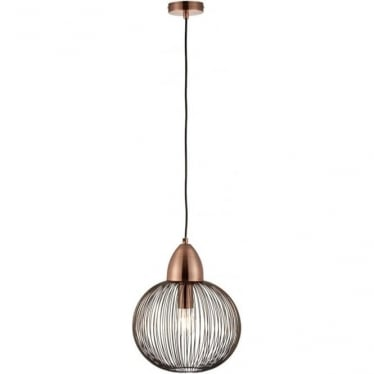 Nicola Single pendant - Antique Copper Finish