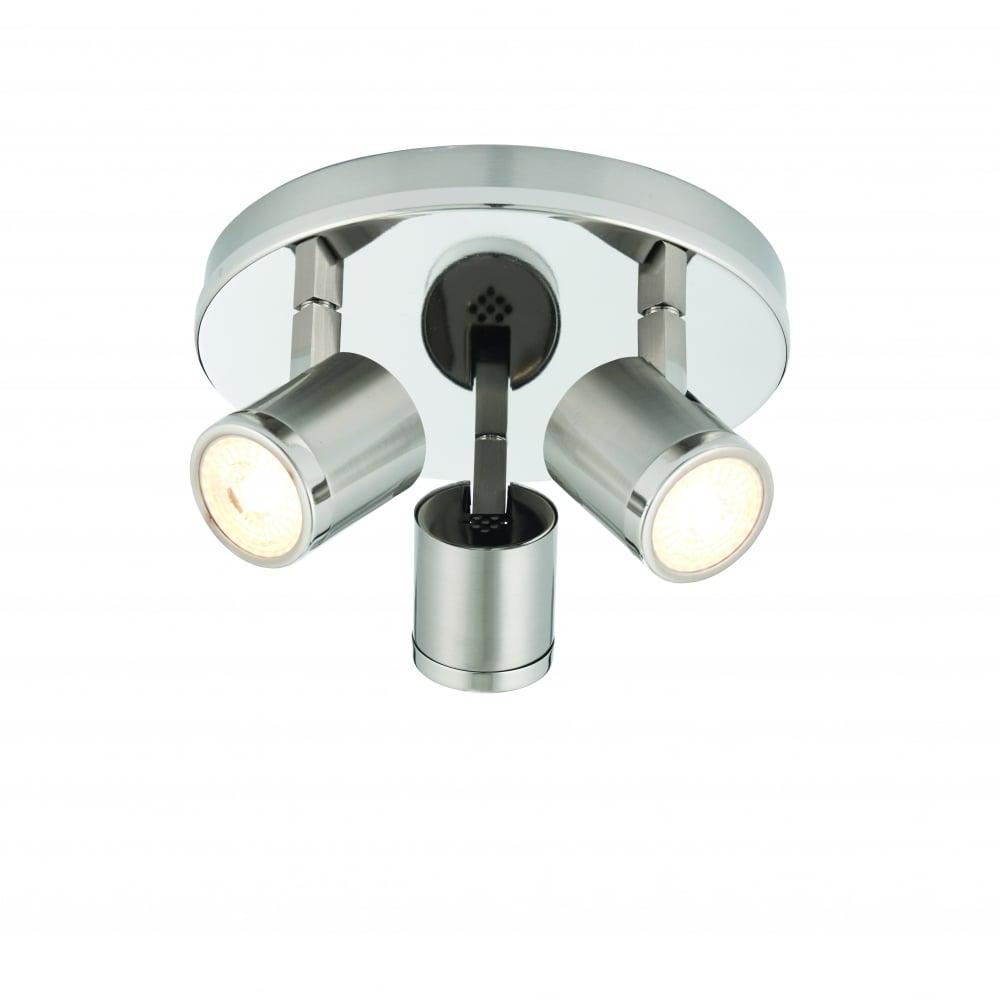Endon Lighting Endon Lighting Oracle Led 3 Light Round Flush Ceiling Fitting Bright Amp Brushed