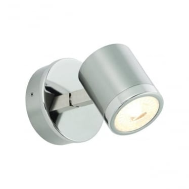 Oracle LED single light wall fitting - Bright & brushed nickel plate