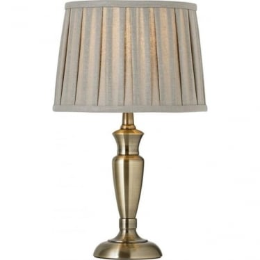 Oslo 310mm table lamp - Antique Brass - base only