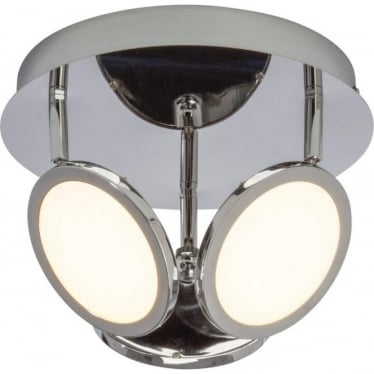 Pluto 3 light flush fitting - Chrome