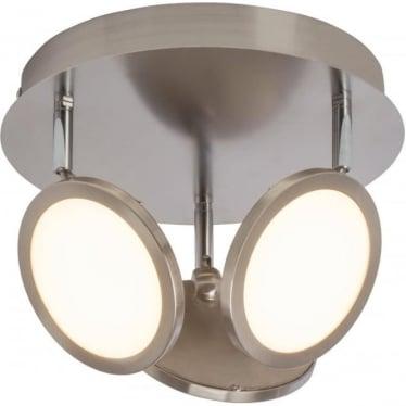 Pluto 3 light flush fitting - Nickel