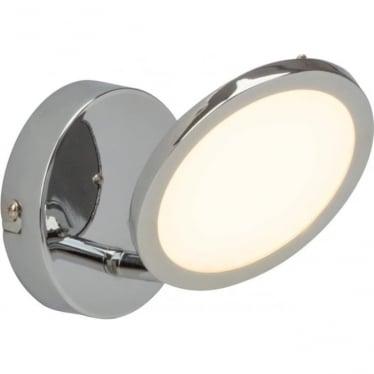Pluto single spotlight fitting - Chrome