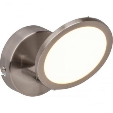 Pluto single spotlight fitting - Nickel
