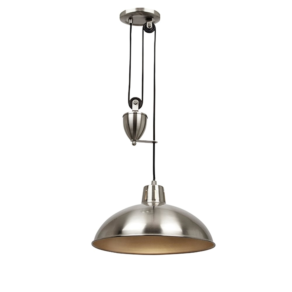 Endon lighting endon lighting polka rise fall pendant satin polka rise amp fall pendant satin nickel mozeypictures Image collections