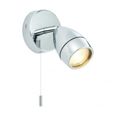 Porto LED single light wall fitting - Chrome plate & clear glass