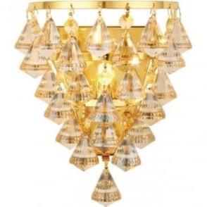 Renner single wall light - Champagne crystal glass & Gold effect