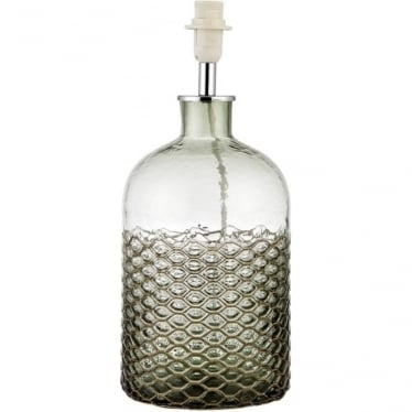 Sadie table Lamp - Recycled Glass with Wire Netting - base only