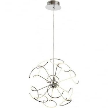 Sandy 12 light ceiling pendant - Chrome