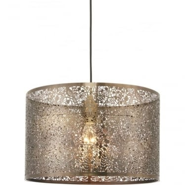 Secret Garden Pendant Shade - Antique Brass 400mm