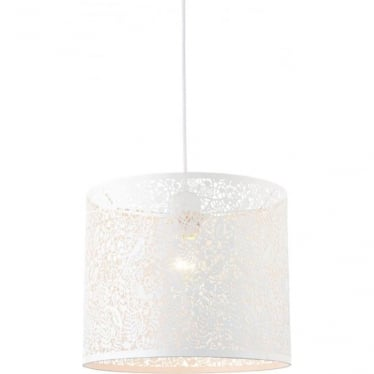 Secret Garden Pendant Shade - Matt ivory 300mm