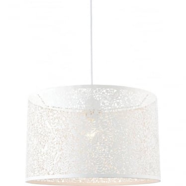 Secret Garden Pendant Shade - Matt ivory 400mm