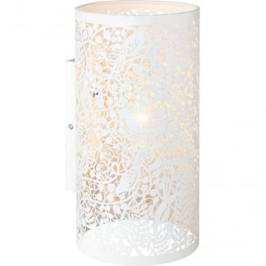 Secret Garden single wall light fitting - Matt Ivory