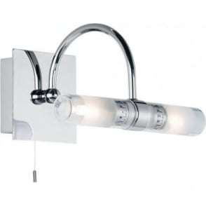 Shore 2 Light wall IP44 - Chrome plate with clear & frosted glass