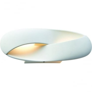 Soft LED single light wall fitting - White