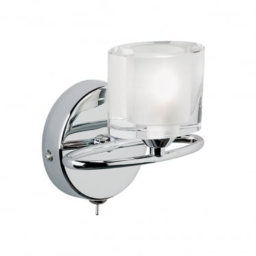Sonata 1 light wall - Chrome plate with clear & frosted crystal glass