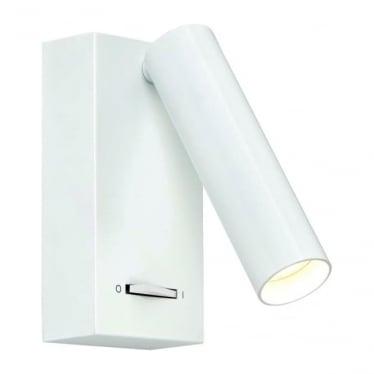 Staten LED single light wall fitting - White
