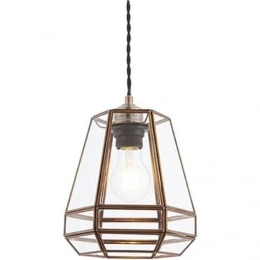 Stockheld Non electric shade - Antique brass & clear glass